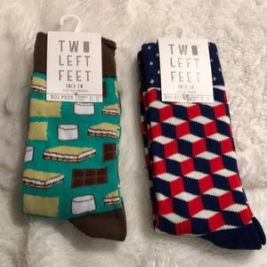 Two left feet socks give me s'mores block party
